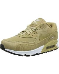 Nike Suede Wmns Air Max 90 Lea Sneakers, in Natural Lyst