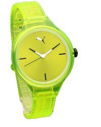 PUMA Contour Three-hand Yellow Polyurethane Watch P1017