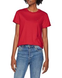 Tommy Hilfiger - Relaxed Roll Up Sleeve Short Sleeve T-shirt - Lyst