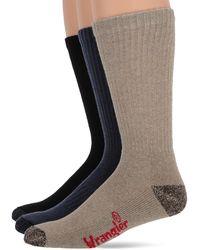 Wrangler Non-binding Ultra-dri Smooth Toe Boot Crew Socks 2 Pair Pack - Multicolour