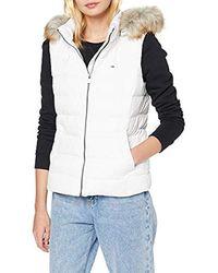Tommy Hilfiger Tjw Essential Hooded Down Vest Jacke - Weiß