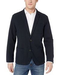 Goodthreads Marchio Amazon - , blazer da uomo in seersucker, vestibilità standard, Navy / Black, US XL (EU XL - XXL) - Blu