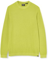 Superdry - Garment Dyed Textured Crew Long Sleeve Top - Lyst