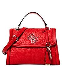 Guess New Wave Top Handle Flap Red - Rosso