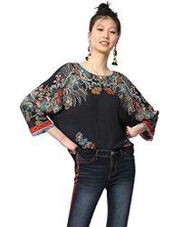 Desigual Blusa para Mujer - Azul