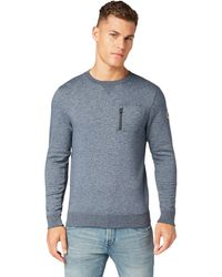 Tom Tailor Meliertes Rundhals Sweatshirt - Blau