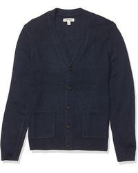 Goodthreads Supersoft Marled Cardigan Sweater - Bleu