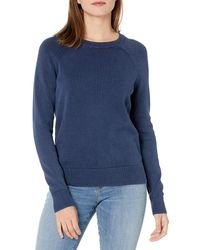 Goodthreads Mineral Wash-Felpa Girocollo Novelty-Athletic-Sweatshirts - Blu