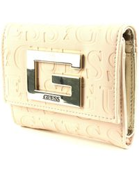 Guess Brightside SLG Small Trifold White - Weiß