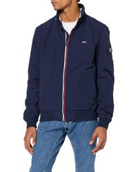 Tommy Hilfiger Tjm Essential Bomber Jacket Giacca Sportiva - Blu