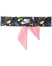 Nike Girl`s Printed Head Tie (one Size, Black(n0002550961)/pink Gaze)