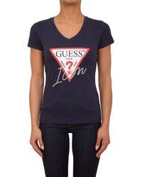 Guess LS VN Serafino Tee T-Shirt Donna