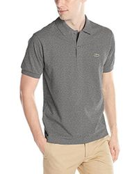 Lacoste - Short Sleeve Pique Classic Fit Chine Polo Shirt, L1264 - Lyst