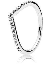 PANDORA Anello per donna a forma di perla - Metallizzato