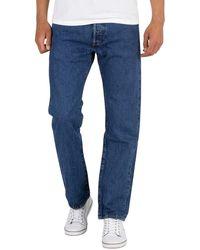 Levi's 501 Original Fit Denim Jeans - Blau