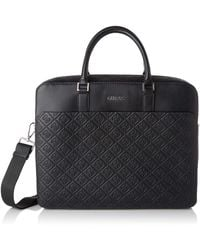 Guess Dan 4g Embossed Briefcase 's - Black