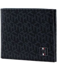Tommy Hilfiger TH Monogram Mini CC Holder Black Monogram - Noir