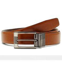 Ted Baker Crafti Smart Reversible Leather Belt - Tan - Brown
