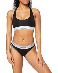 Calvin Klein 's Unlined Bralette/thong Set Winter Accessory - Black