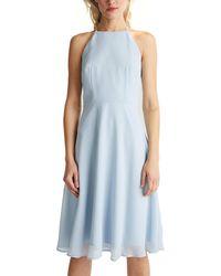 Esprit Collection 040eo1e342 Vestido - Azul