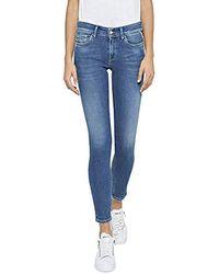 Replay Luz Ankle Zip Skinny Jeans - Blau