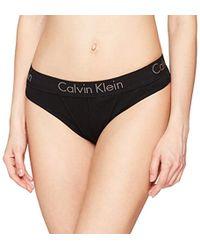 Calvin Klein Thong Tanga para Mujer - Negro