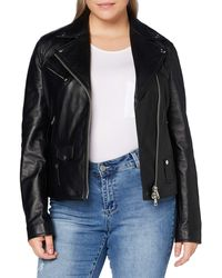 Replay W7292a.000.82926l Leather Jacket - Black
