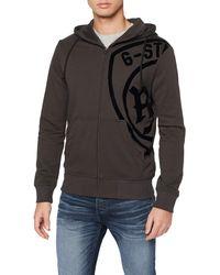 G-Star RAW Graphic 10 Zip Hooded Sweatshirt - Grau