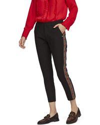 Scotch & Soda Maison Tailored Stretch Pants with Contrast Side Panel Pantaloni - Nero