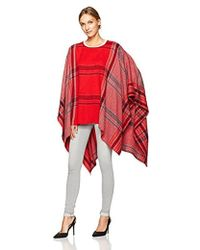 Vince Camuto - Exaggerated Plaid Poncho - Lyst