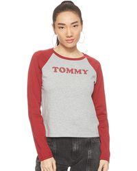 Tommy Hilfiger Ls Tee Slogan Haut De Pyjama - Multicolore