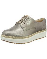 Clarks Teadale Rhea, Zapatos de Cordones Brogue para Mujer - Multicolor