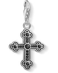 Thomas Sabo - Pendentif Charm Croix Noire Argent Sterling 925, Noirci 1477-643-11 - Lyst