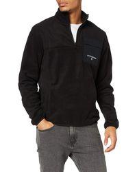 Calvin Klein Polar Utility Full Zip Jumper - Black