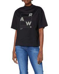 G-Star RAW - Raw Applique Graphic Carnn Mock Camiseta - Lyst