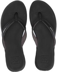 adidas Reef 's Rover Catch Black Flip Flops