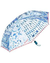 Desigual Umbrella Blue Patch Navy