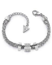 Guess Bracelet en Acier et Cristal - Blanc