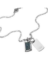 DIESEL Collane Uomini acciaio inossidabile Nessuna pietra preziosa Non applicabile applicabile - DX1246040 - Metallizzato