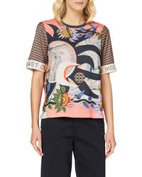 Scotch & Soda Printed Top With Short Sleeves Shirt - Multicolour