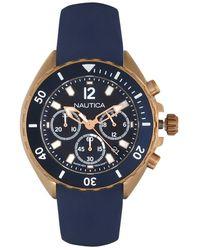 Nautica Montres Bracelet NAPHST003 - Bleu
