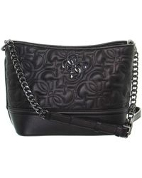 Guess New Wave Logo Small Hobo - Black