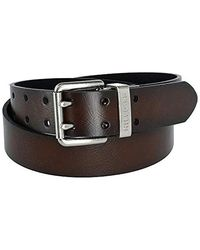 Tommy Hilfiger Reversible Bridle Belt With H Shaped Buckle - Black