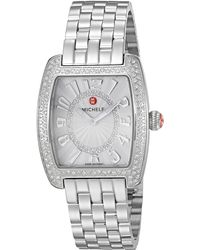 Michele Urban Mini Swiss-quartz Watch With Stainless-steel Strap - Metallic