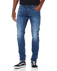 G-Star RAW 3301 Deconstructed Skinny Jeans - Blu