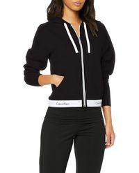 Calvin Klein Top Hoodie Full Zip Capucha - Negro
