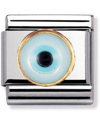Nomination Maillon pour bracelet composable - - Acier inoxydable et Or jaune 18 - Multicolore