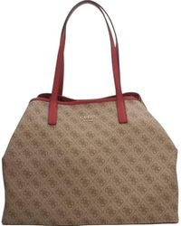 Guess Vikky Large Tote Brown