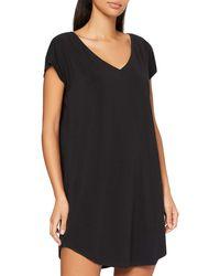 Calvin Klein S/S Nightshirt Abbigliamento Termico - Nero