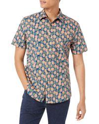 Amazon Essentials - Camicia a iche Corte con Stampa Slim Fit Button-Down-Shirts - Lyst